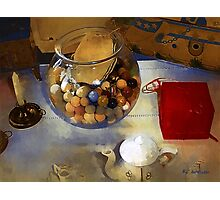 Tea and Toys Photographic Print