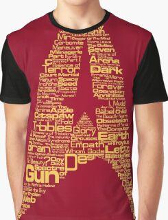 Star Trek The Original Series typography (red) Graphic T-Shirt