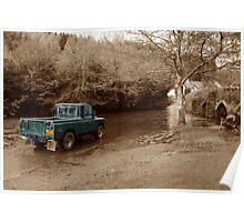 Landrover vs the river Poster