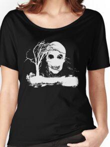 Halloween Skull on Dead Tree  Women's Relaxed Fit T-Shirt