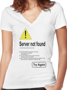 not internet access Women's Fitted V-Neck T-Shirt