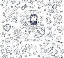Tattoo Man Design by alee7spain