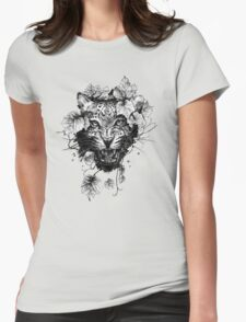 Leopard Vine Womens Fitted T-Shirt