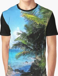 Palm Trees and Beach St. Thomas VI Graphic T-Shirt