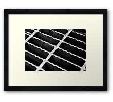 I was up above it, now I'm down in it Framed Print