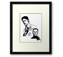 Charles and Erik Framed Print