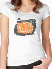 Hand punching Women's Fitted Scoop T-Shirt