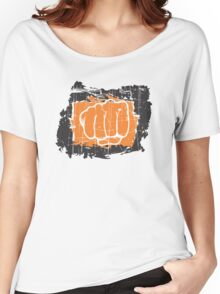 Hand punching Women's Relaxed Fit T-Shirt