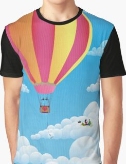 Picnic in a Balloon on a Cloud Graphic T-Shirt
