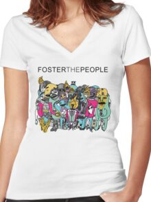 Foster The People Colors Women's Fitted V-Neck T-Shirt