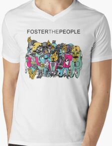 Foster The People Colors Mens V-Neck T-Shirt