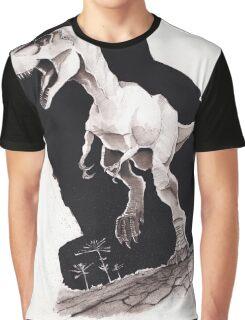 Sprinting Gorgosaurus libratus (Sepia) Graphic T-Shirt