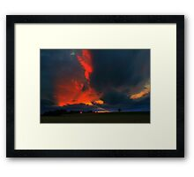 Gallow Hill from the Teesdale Way Trail. Late Evening Sky. England Framed Print