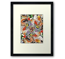 Complementary Tessellation Framed Print