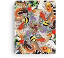 Complementary Tessellation Canvas Print