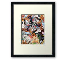 Interdependent Tessellation Framed Print