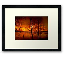 Sunset in toxicity Framed Print