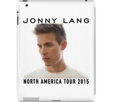 JONNY LANG WHITE TEE TOUR 2015 iPad Case/Skin