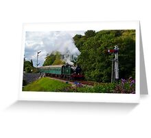 Approaching Corfe Castle 2 Greeting Card