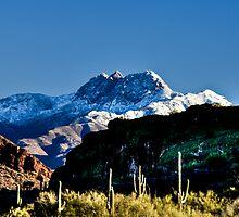Four Peaks Snowfall by J. Michael Runyon
