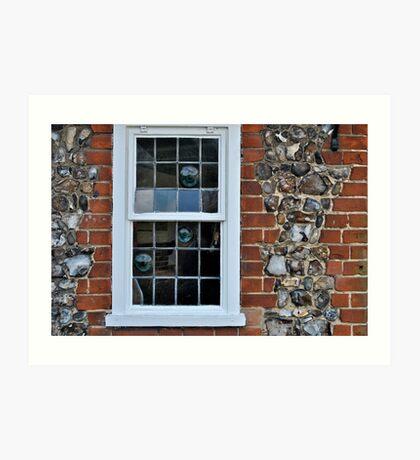 Window and flint wall Art Print