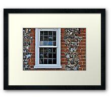Window and flint wall Framed Print