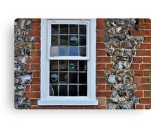 Window and flint wall Canvas Print