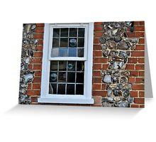 Window and flint wall Greeting Card