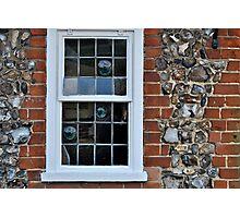 Window and flint wall Photographic Print