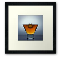 Rum Drop Framed Print