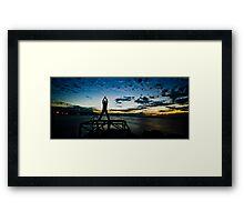 Evening Greeting Framed Print