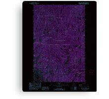 USGS Topo Map Washington State WA Loup Loup Summit 242080 1989 24000 Inverted Canvas Print