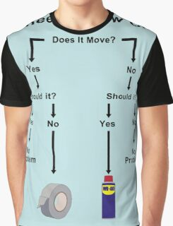 Engineering Flow Chart Graphic T-Shirt