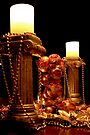 Festive Candles by Christine Smith