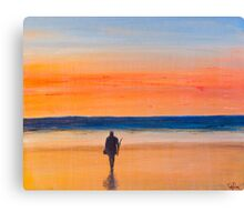 Sunrise Beach Fishing Canvas Print