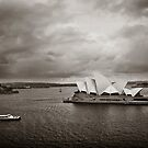 Sydney Opera House in B&W by Adriana Glackin