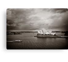Sydney Opera House in B&W Canvas Print