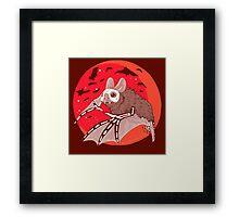 Bats Over the Blood Moon Framed Print