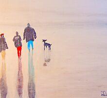 Winter Beach Walk by Richard Darcy