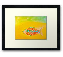 Water Color Fish Framed Print