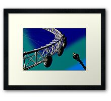 London Eye And street Lamp Framed Print