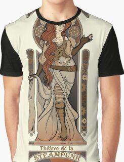 Steampunk Nouveau 2- Cream Graphic T-Shirt