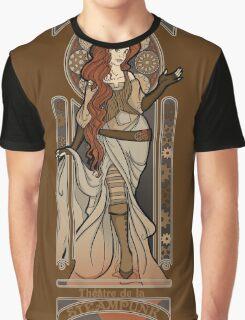 Steampunk Nouveau 2- Brown Graphic T-Shirt