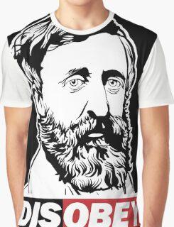 "Henry David Thoreau ""Disobey""  Graphic T-Shirt"