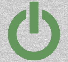 Power Button (green) One Piece - Long Sleeve