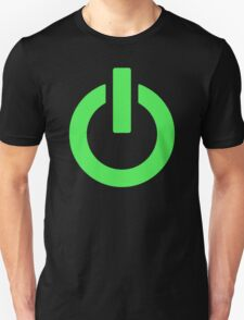Power Button (green) T-Shirt