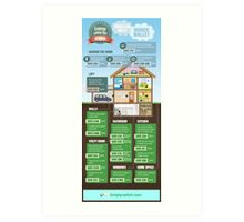 Save Energy Infographic Art Print