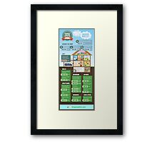 Save Energy Infographic Framed Print