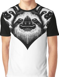 A Slothy Heart Graphic T-Shirt