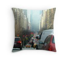 Running to work, New York City  Throw Pillow